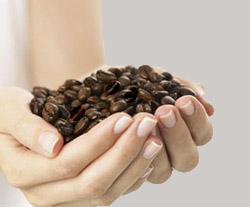 Скраб на основе натурального кофе против целлюлита.