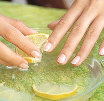 ванночки для ногтей с лимоном