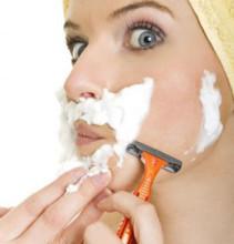 удаление волос воском на лице