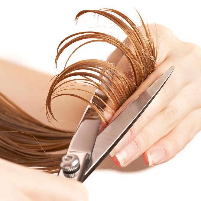стрижка волос горячими ножницами