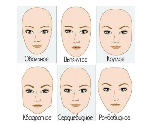 форма лица и брови