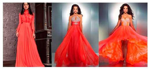 платья алого цвета