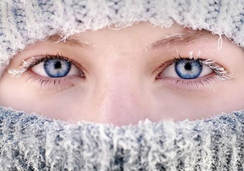 защита лица зимой