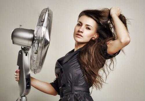 сушка волос вентилятором