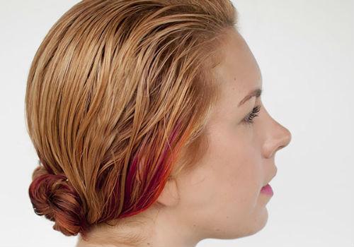 гулька на волосах для объема