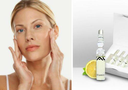 маски для лица с витаминами в ампулах