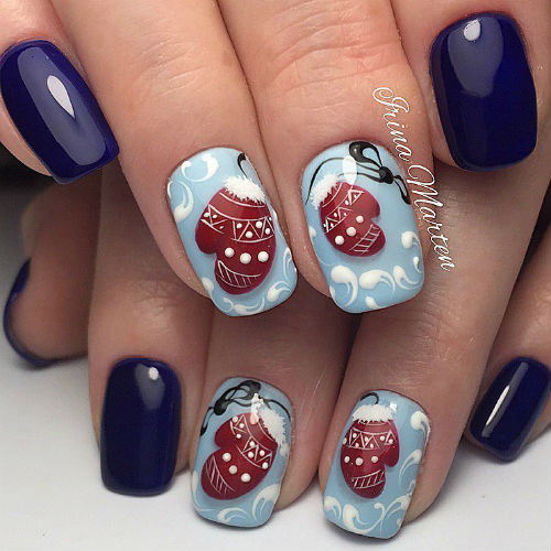 дизайн ногтей на новый год 2018