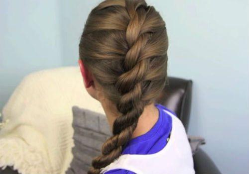 объемная коса из жгутов