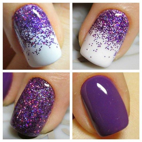 Фиолетово-белый вариант