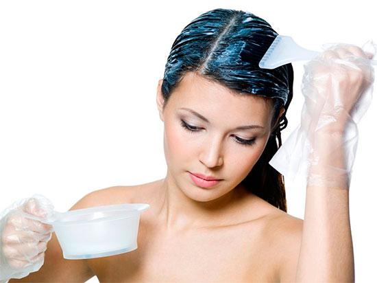 Окрашивание волос для брюнеток в домашних условиях