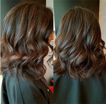Окрашивание на средние волосы Кофе-гляссе