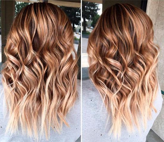 Окрашивание на средние волосы модно
