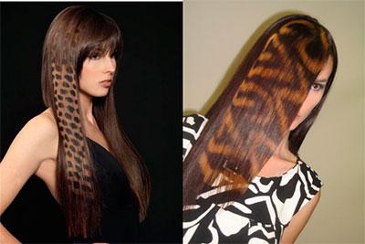 Темные оттенки волос узор