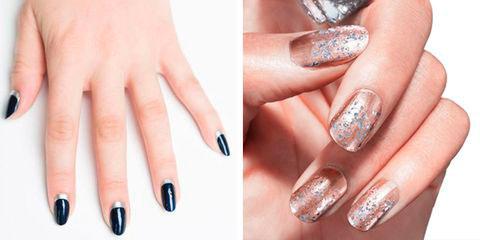Вариант модного дизайна ногтей № 1