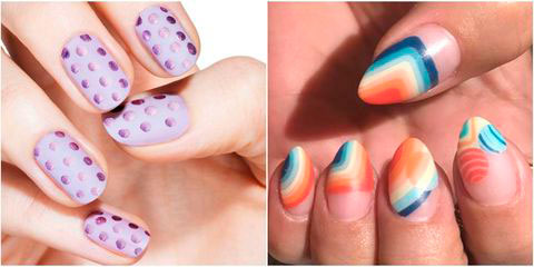 Вариант модного дизайна ногтей № 9