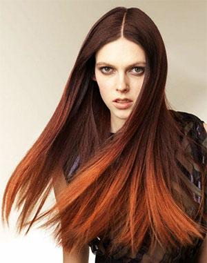 Окрашивание кончиков волос