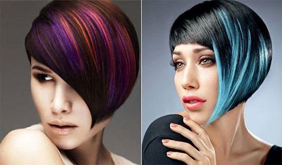 Пряди на различной длине волос