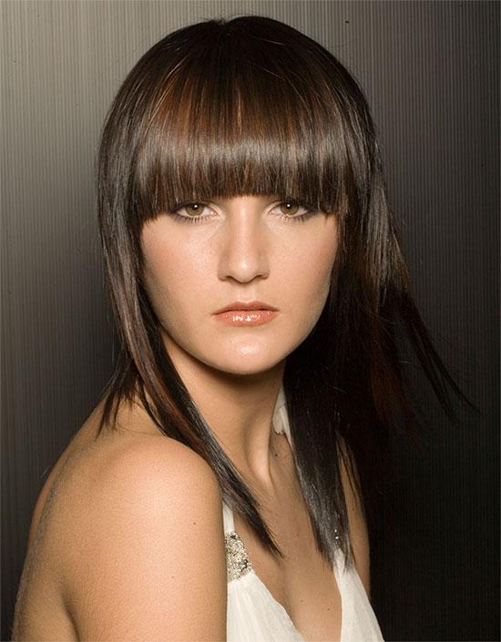 Стрижки волос с челкой