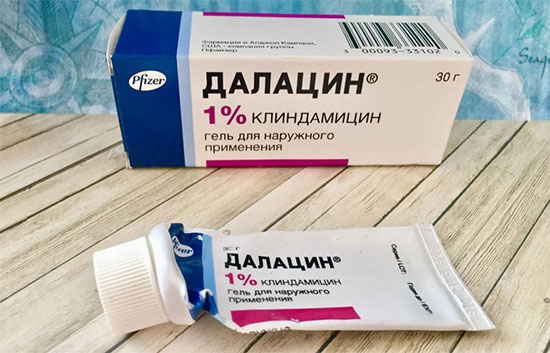 Далацин от прыщей — инструкция по применению