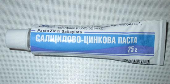 Cалицилово-цинковая паста - инструкция по применению